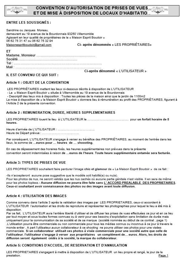Contrat à visée commercial